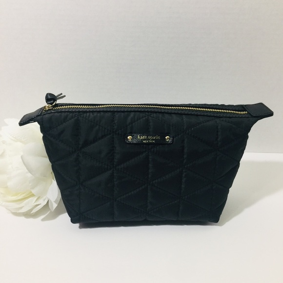 low priced 96963 9b639 Kate Spade Jodi Quilted Cosmetic Bag - Black NWT